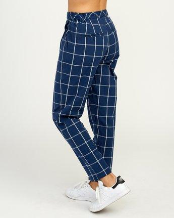 6 Hey Now Grid Pants Blue N3PTRDRVP9 RVCA
