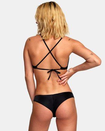 2 Solid - Mutandina bikini con taglio cheeky da Donna Black N3SBRBRVP9 RVCA