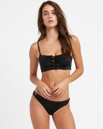 2 Solid Medium Loop Side Bikini Bottoms Black N3SBRDRVP9 RVCA