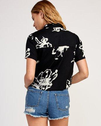 3 Sage Vaughn Voila - Short Sleeves Shirt for Women Schwarz N3SHRCRVP9 RVCA