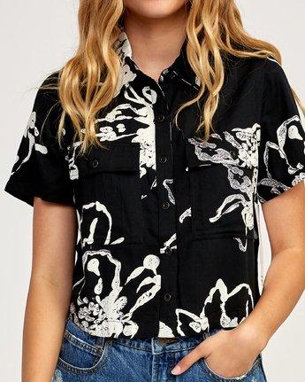 4 Sage Vaughn Voila - Short Sleeves Shirt for Women Schwarz N3SHRCRVP9 RVCA