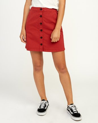 0 Promises Skirt Red N3SKRARVP9 RVCA
