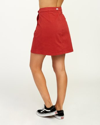 3 Promises Skirt Red N3SKRARVP9 RVCA