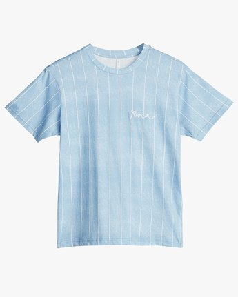 2 Rvca Chained T-Shirt Blue N3SSRPRVP9 RVCA