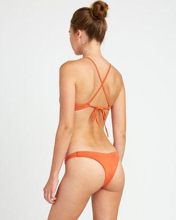 3 Solid - Reggiseno Bikini con Schiena Incrociata da Donna Yellow N3STRBRVP9 RVCA