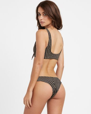 1 Amalfi Tie Front Bikini Top Black N3STRGRVP9 RVCA