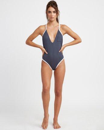 5 Linear One Piece Swimsuit Grey N3SWRERVP9 RVCA