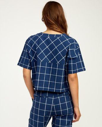 3 Flux - Top à manches courtes pour Femme Bleu N3TPRKRVP9 RVCA