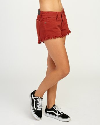 5 Hello Mellow - Short pour Femme Rouge N3WKRFRVP9 RVCA