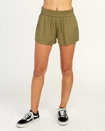 1 Real Ez - Short pour Femme Vert N3WKRLRVP9 RVCA