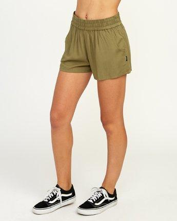 2 Real Ez - Short pour Femme Vert N3WKRLRVP9 RVCA