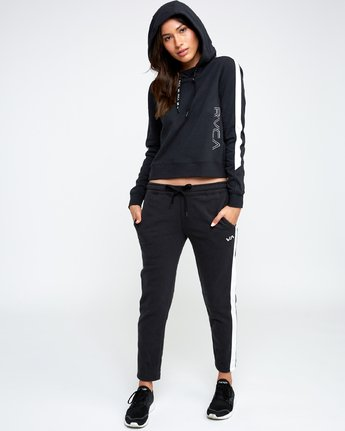 4 Tycho Pullover - Sports Hoodie for Women Black N4HOWARVP9 RVCA