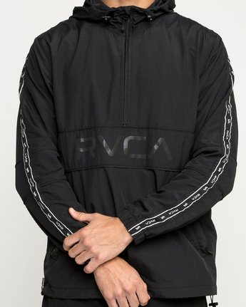 5 Adapter Anorak - Sports Jacket for Men Black N4JKMDRVP9 RVCA