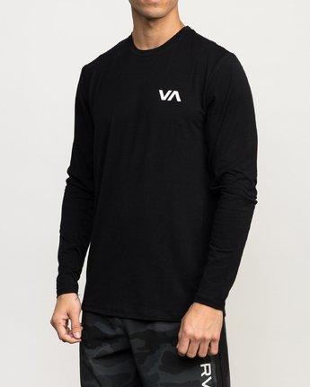 2 VA Vent LS Top Black N4KTMARVP9 RVCA