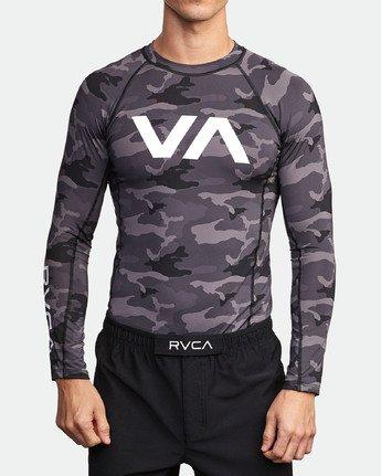 1 Sport Rashguard - Long Sleeve Rash Vest for Men Camo N4MYRARVP9 RVCA