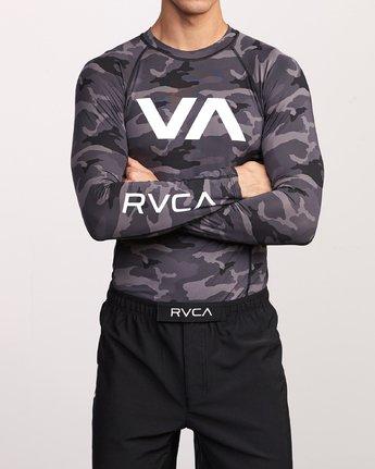 2 Sport Rashguard - Long Sleeve Rash Vest for Men Camo N4MYRARVP9 RVCA