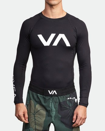 1 Sport Rashguard - Long Sleeve Rash Vest for Men Black N4MYRARVP9 RVCA
