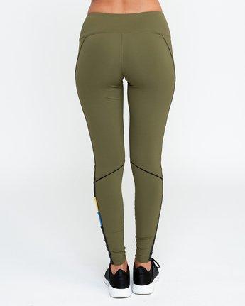 3 VA - Sports Legging for Women Green N4PTWARVP9 RVCA