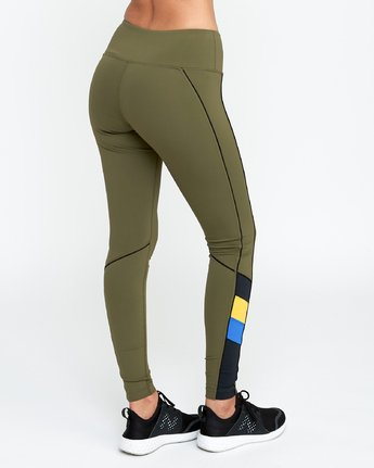 4 VA - Sports Legging for Women Grün N4PTWARVP9 RVCA