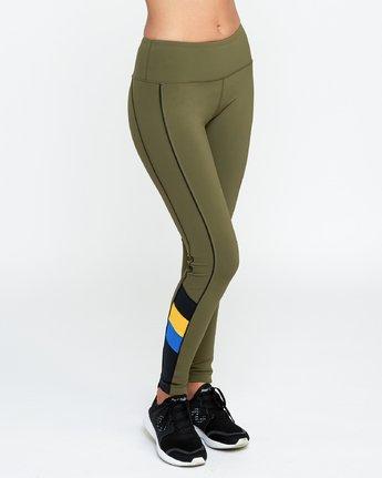 5 VA - Sports Legging for Women Green N4PTWARVP9 RVCA