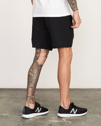 "5 Yogger Stretch 17"" Short Black N4WKMFRVP9 RVCA"