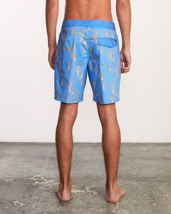 4 Kristen Liu Wong Palms Trunk - Boardshorts for Men Blue P1BSRDRVS9 RVCA