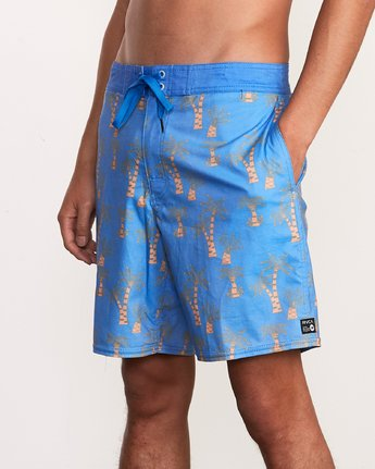 7 Kristen Liu Wong Palms Trunk - Boardshorts for Men Blue P1BSRDRVS9 RVCA