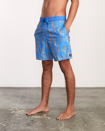 2 Kristen Liu Wong Palms Trunk - Boardshorts for Men Blue P1BSRDRVS9 RVCA
