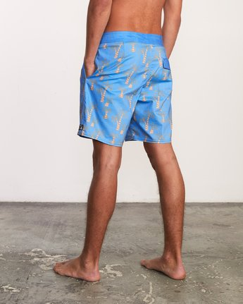 3 Kristen Liu Wong Palms Trunk - Boardshorts for Men Blue P1BSRDRVS9 RVCA