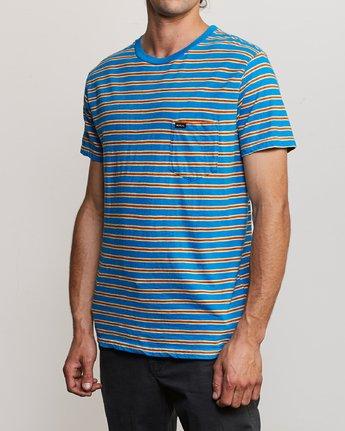 2 Vincent Stripe Crew - T-Shirt for Men Blau P1KTRBRVS9 RVCA