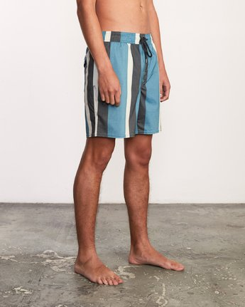 "6 Eclectic Elastic Short - 17"" Boardshorts for Men Blue P1VORCRVS9 RVCA"
