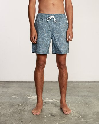 "1 Eclectic Elastic Short - 17"" Boardshorts for Men Blue P1VORCRVS9 RVCA"
