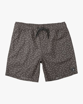 "0 Kristen Liu Wong Program Elastic Short - 17"" Boardshorts for Men Black P1VORDRVS9 RVCA"