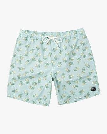 "0 Kristen Liu Wong Program Elastic Short - 17"" Boardshorts for Men  P1VORDRVS9 RVCA"
