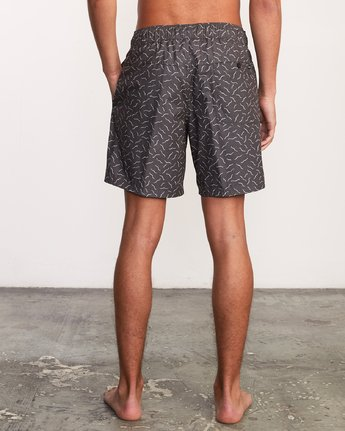 "4 Kristen Liu Wong Program Elastic Short - 17"" Boardshorts for Men Black P1VORDRVS9 RVCA"