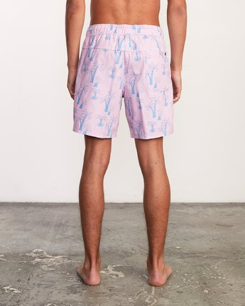 "5 Kristen Liu Wong Program Elastic Short - 17"" Boardshorts for Men Pink P1VORDRVS9 RVCA"