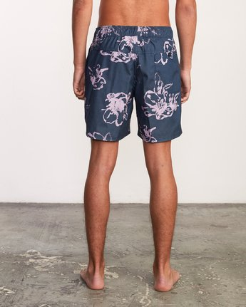 "5 Kristen Liu Wong Program Elastic Short - 17"" Boardshorts for Men Blue P1VORDRVS9 RVCA"