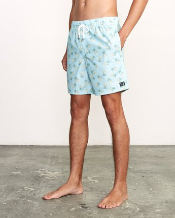 "2 Kristen Liu Wong Program Elastic Short - 17"" Boardshorts for Men  P1VORDRVS9 RVCA"