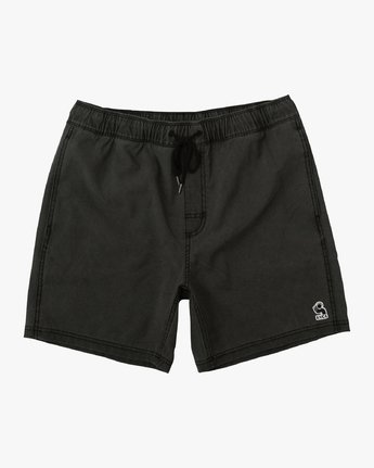 "0 Washer Elastic Short - 17"" Boardshorts for Men Black P1VORERVS9 RVCA"