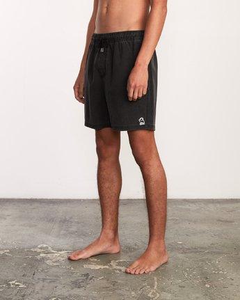 "2 Washer Elastic Short - 17"" Boardshorts for Men Negro P1VORERVS9 RVCA"
