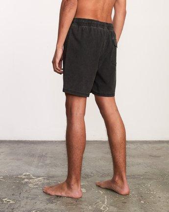 "3 Washer Elastic Short - 17"" Boardshorts for Men Negro P1VORERVS9 RVCA"