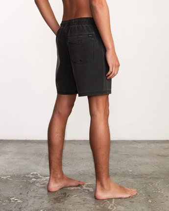 "5 Washer Elastic Short - 17"" Boardshorts for Men Negro P1VORERVS9 RVCA"