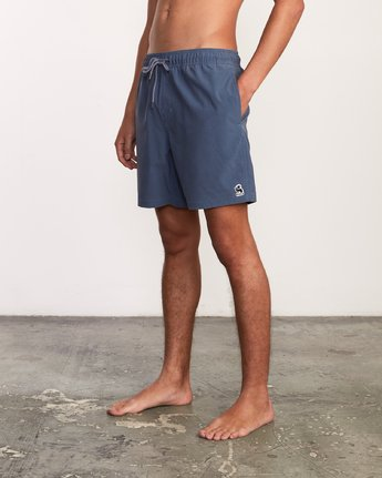 "1 Washer Elastic Short - 17"" Boardshorts for Men Blue P1VORERVS9 RVCA"