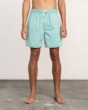 1 Tom Gerrard Trunk - Boardshort 17'' taille élastiquée pour Homme Bleu P1VORFRVS9 RVCA