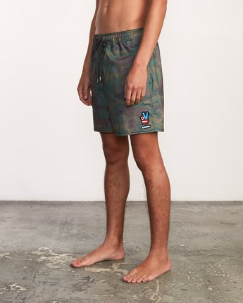 "2 Daytona Elastic Short - 17"" Boardshorts for Men Camo P1VORGRVS9 RVCA"