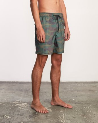 "3 Daytona Elastic Short - 17"" Boardshorts for Men Camo P1VORGRVS9 RVCA"