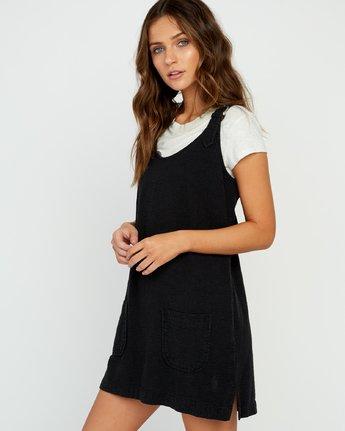 3 Tech That Searsucker Dress Black P3DRRCRVS9 RVCA