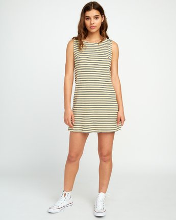 2 ON THE FENCE DRESS White P3DRRJRVS9 RVCA
