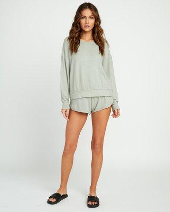 4 Daydream Knit Sweatshirt Green P3FLRBRVS9 RVCA