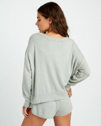 2 Daydream Knit Sweatshirt Green P3FLRBRVS9 RVCA